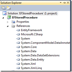 Solution EF Stored Procedures