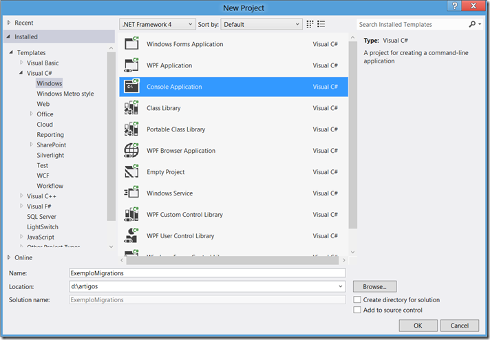 Entity Framework Code First–Migrations
