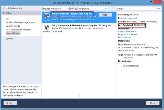 Manage NuGet packages-2
