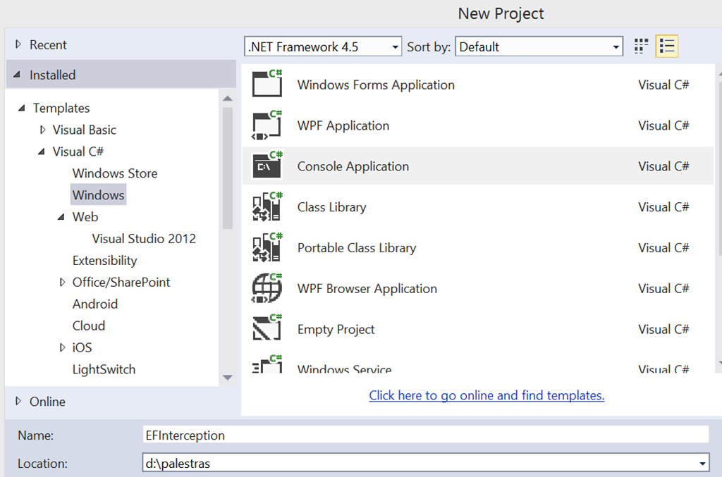 Entity Framework–CodeBase Configuration (Interception)