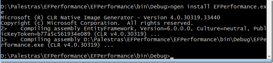 Entity Framework performance with NGen-5