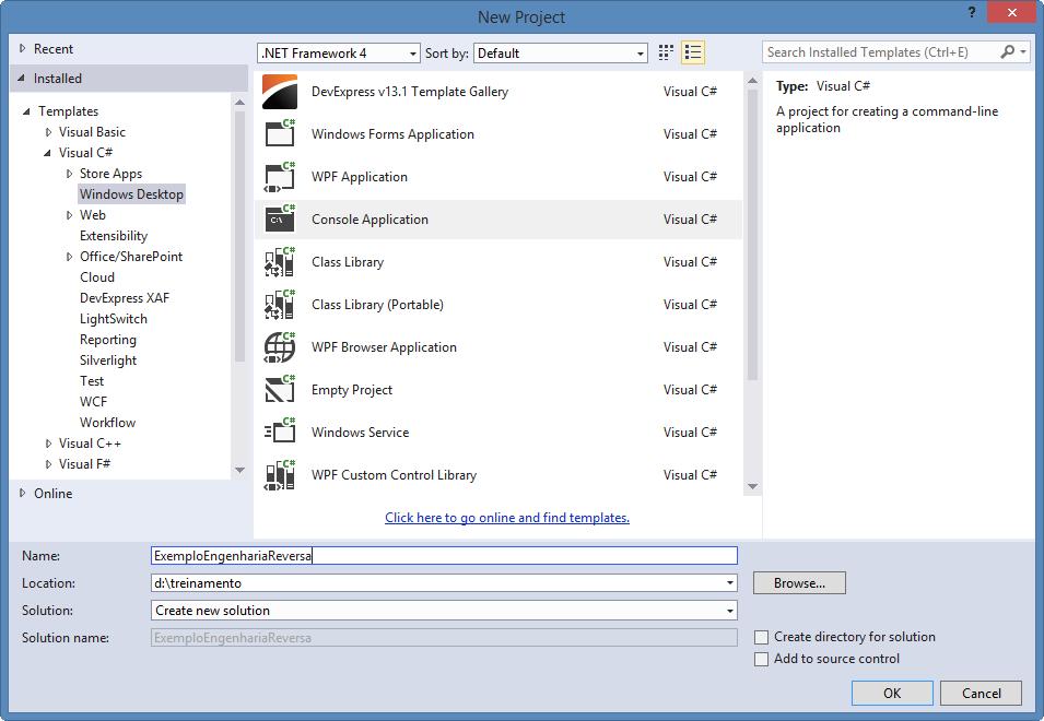 EntityFramework-Lendo seu banco de dados com o Visual Studio 2013 Update 2