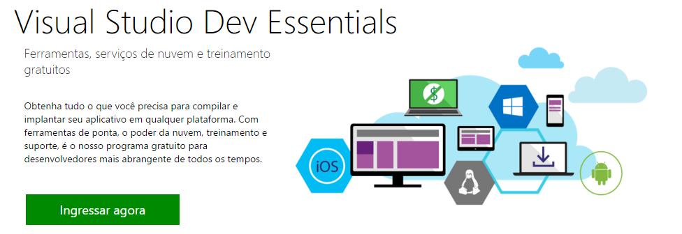 Desenvolva com Microsoft sem gastar dinheiro